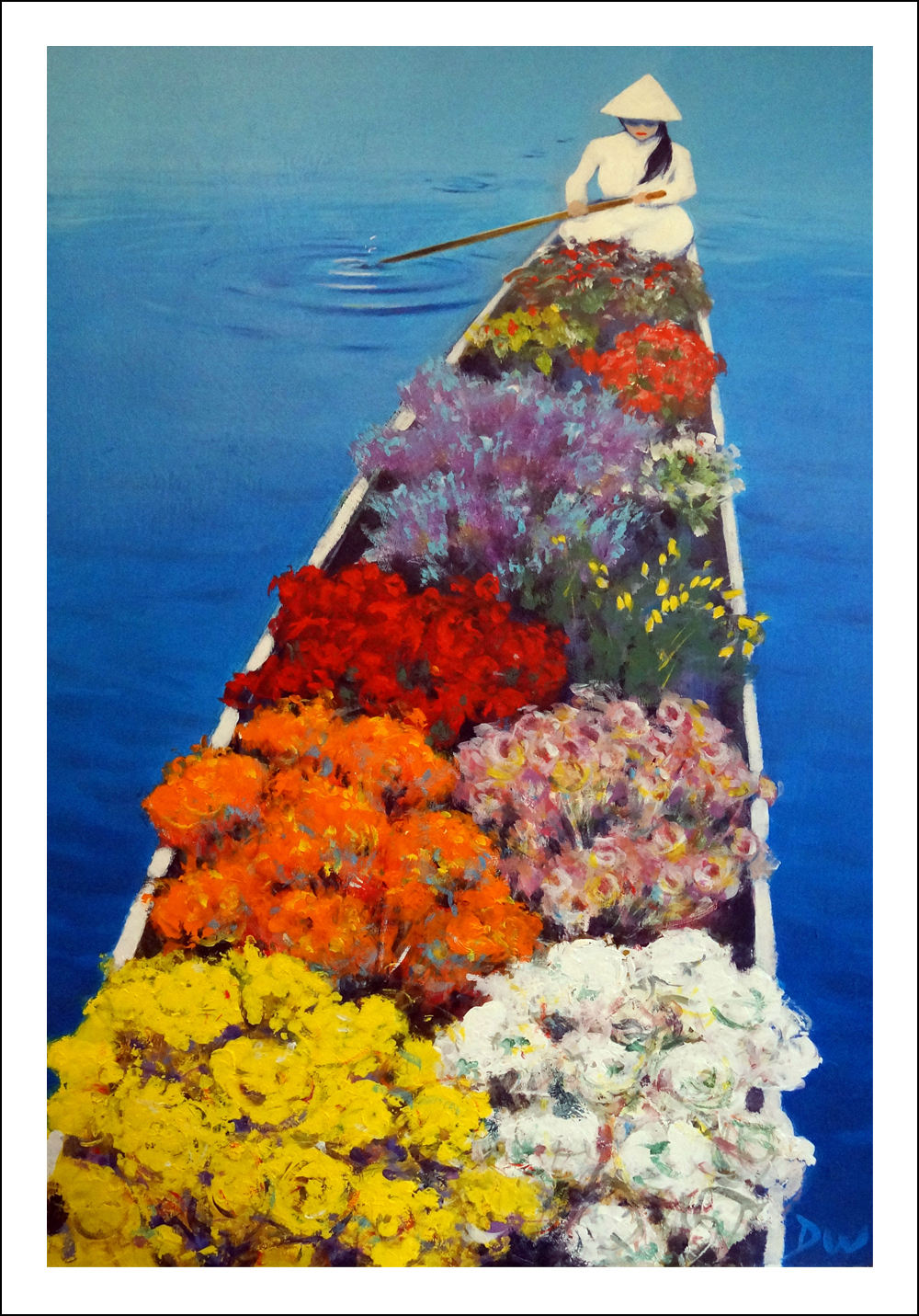 Flower Boat Seller